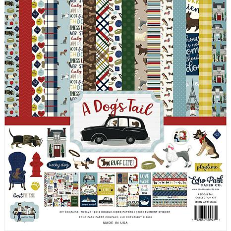"""Echo Park Collection Kit 12"""" x 12"""" - A Dog's Tail"""