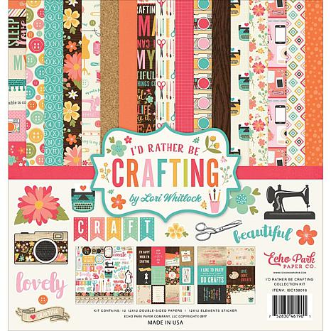 Echo Park Collection Kit 12X12 - I'd Rather Be Crafting