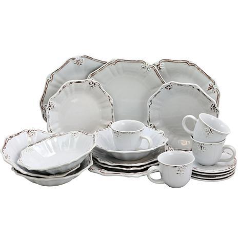 Elama Fleur De Lys 20-piece  Dinnerware Set