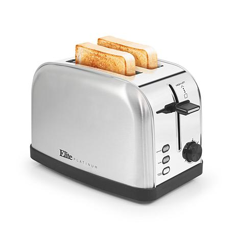 Elite Platinum  2-Slice Toaster with Bagel Defrost & 7 Toast Settings