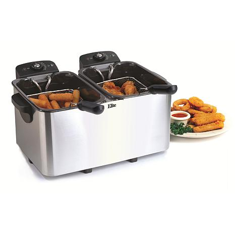 Elite Platinum 8qt. Double Fryer with Separate Controls