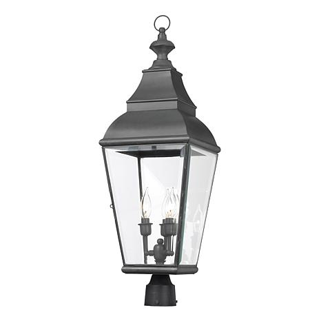 """ELK Lighting 29"""" Briston Charcoal Outdoor Post Light"""