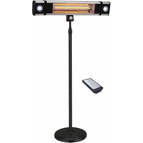 EnerG Infrared Freestanding Electric Outdoor Heater w/LED and Remote