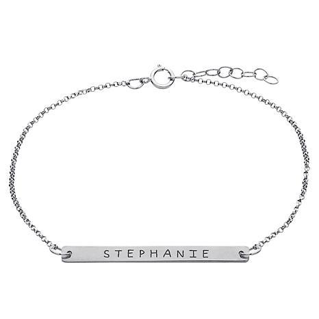 """Engraved Mini-Bar 7"""" Bracelet"""