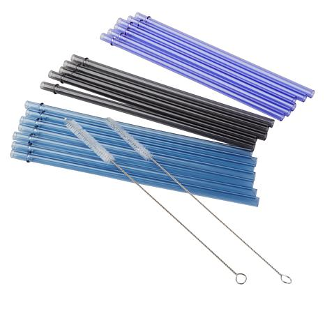 Epoca Set of 18 Reusable Tritan Straws