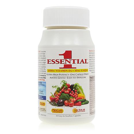 Essential-1 with Vitamin D3-2000 + 30mg CoQ10 - 30 Capsules