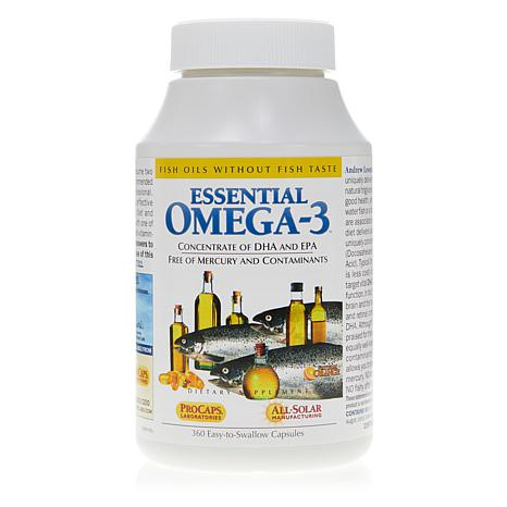 Essential Omega-3 - No Fishy Taste - Orange Flavored - 360 Capsules