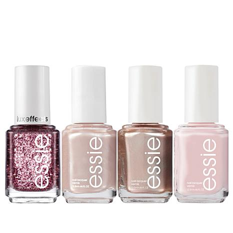 Essie Pink Champagne 4-piece Nail Lacquer Set