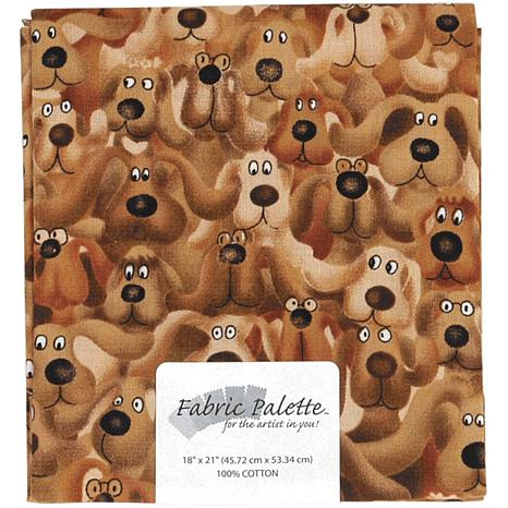 Fabric Palette 1/4-Yard 100% Cotton Fabric - Brown Dog