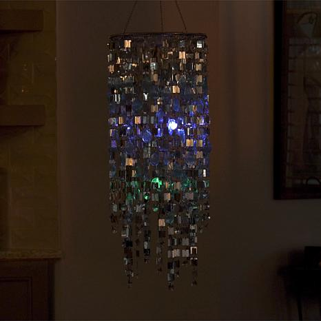 Fieldsmith color changing shimmering chandelier 8633758 hsn aloadofball Image collections