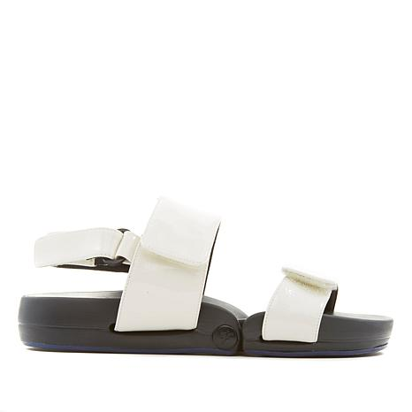 Figs by Figueroa Figulous Crinkled Patent Leather Flex Sandal