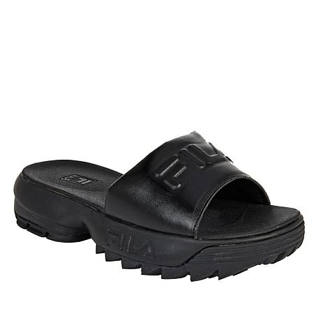FILA Disruptor Leather Slide Sandal