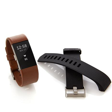 Fitbit Charge 2 Fitness Tracker with Classic and Leather Bands