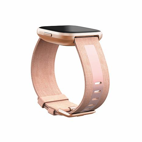 FitBit Versa 2 Woven Accessory Band - Pink/Small