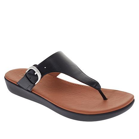 FitFlop Banda II Leather Adjustable Toe Post Sandal
