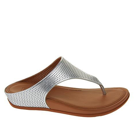 Fitflop Sandal Leather Banda Perforated Post Toe PiXulkZTwO