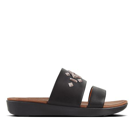 FitFlop Delta Crystal Leather Slide Sandal