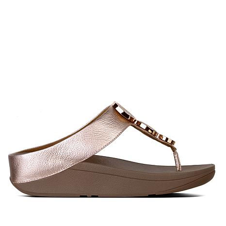 buy online bb10c 012fa FitFlop Halo Leather Disk Thong Sandal