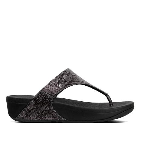 FitFlop Lulu Python Leather Toe Post Sandal
