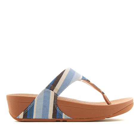 FitFlop Lulu Stripey Canvas Toe Post Sandal