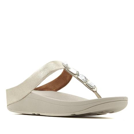 4b92d0e52ff9 FitFlop Roka Leather Jeweled Thong Sandal - 8628954