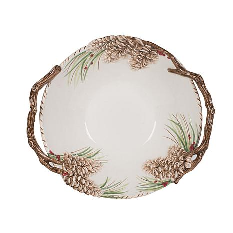 Fitz and Floyd Forest Frost Centerpiece Bowl