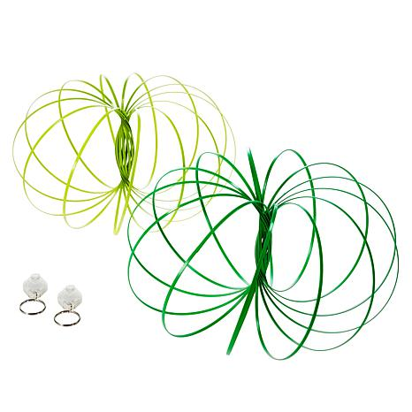 Flipo Glow in the Dark Kinetic Koils with Light Applicator 2-pack