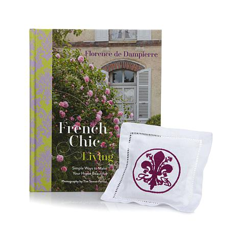 """Florence """"French Chic Living"""" Book w/Lavender Sachet"""