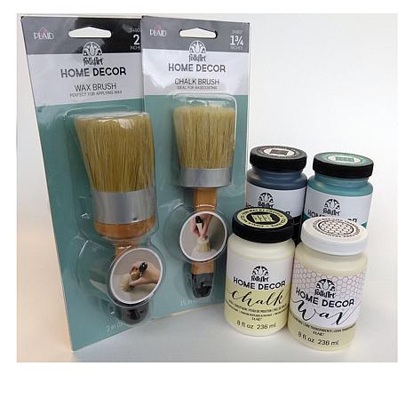 Folkart Home Decor Chalk Paint 8 Oz. Deluxe Kit - 8512587 | Hsn