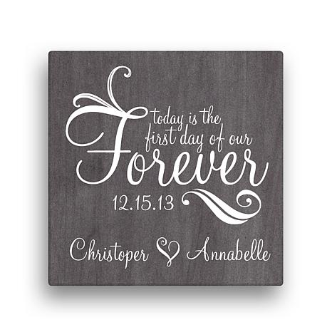"Forever Personalized Canvas Wall Art - 16"" x 16"""