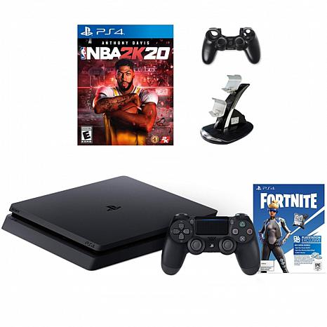 Fortnite Neo Versa PlayStation 4 with NBA2K20 and Accessories Bundle