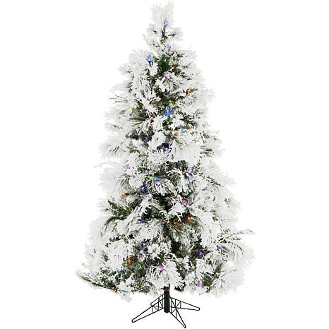Fraser Hill Farms 9' Flocked Snowy Pine Tree - Multicolor