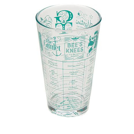 Fred and Friends Good Measure Recipe Glass - Gin