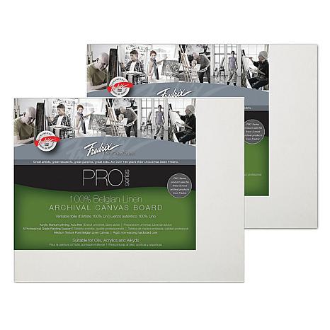 "Fredrix 8"" x 10"" Archival Linen Canvas Boards - 2-pack"