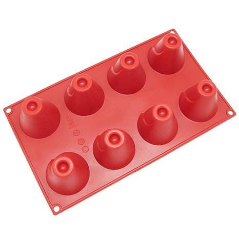 Freshware 8-Cavity Silicone Volcano Mold - Red