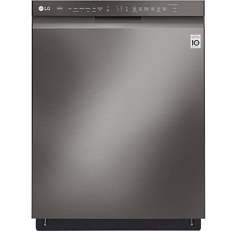 Front Control Dishwasher with QuadWash - Black Stainless Steel