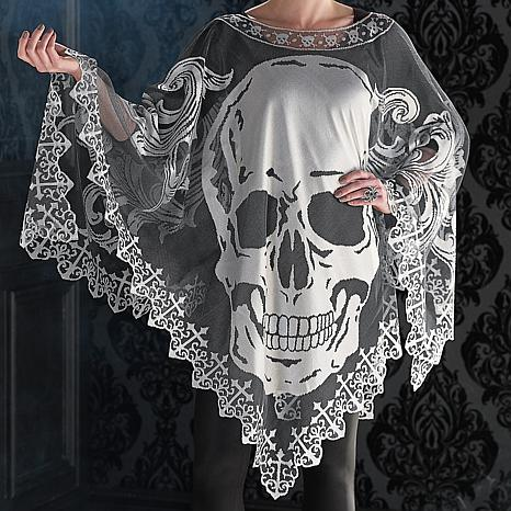 Frontgate Skull Poncho