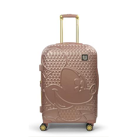 FUL Disney Mickey Mouse 25-inch Hard Sided Rolling Luggage, Rose Gold