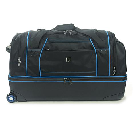 "FUL Workhorse 30"" Rolling Duffel Bag - Black and Blue"