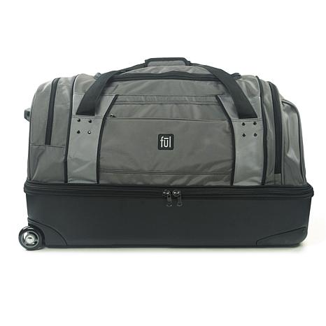"""FUL Workhorse 30"""" Rolling Duffel Bag with Retractable Handle, Black"""
