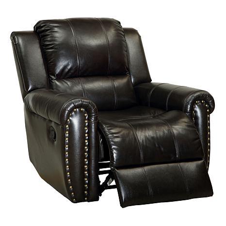 Furniture of America Dax Leatherette Glider Recliner - Brown
