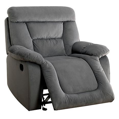 Furniture of America Myra Flannelette Glider Recliner