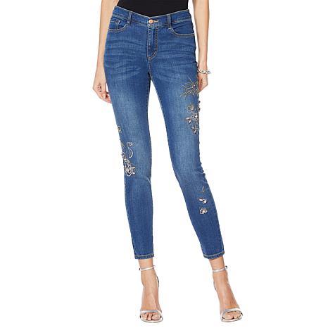 G by Giuliana Downtown Denim Embellished Skinny Jean