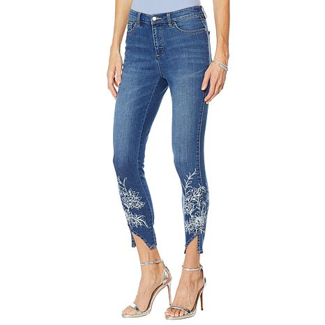 G by Giuliana Downtown Denim Printed Skinny Jean
