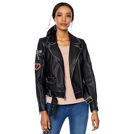 G by Giuliana Faux Leather Jacket