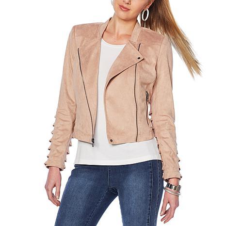 G by Giuliana Faux Suede Moto Jacket