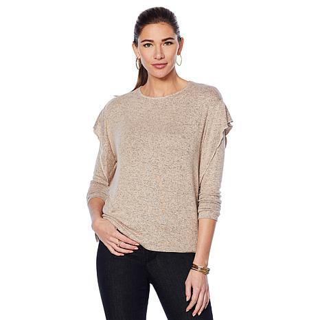 33d6cecc5a212 G by Giuliana Hacci Knit Ruffle-Sleeve Top - 8791474