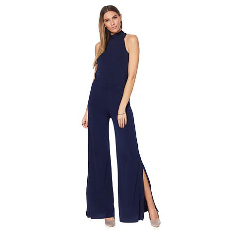 G by Giuliana Tie-Back Halter Jumpsuit