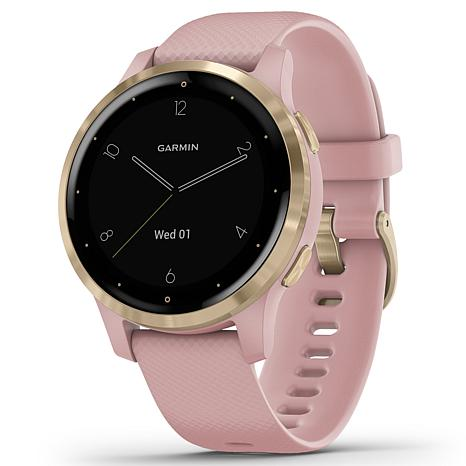 Garmin Vivoactive 4S GPS Smartwatch in Light Gold and Dust Rose