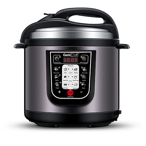 Geek Chef 6-Quart 11-in-1 Electric Pressure Cooker